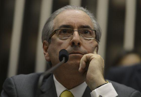O presidente da Câmara, Eduardo Cunha, durante a sessão desta quarta-feira.