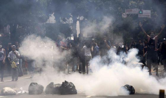 Estudantes protestam em São Paulo na última sexta-feira.