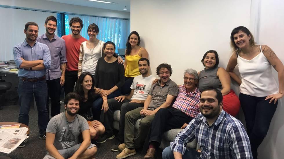 Parte da equipe do El País Brasil, na redação em São Paulo, na última quarta-feira, 27 de setembro.