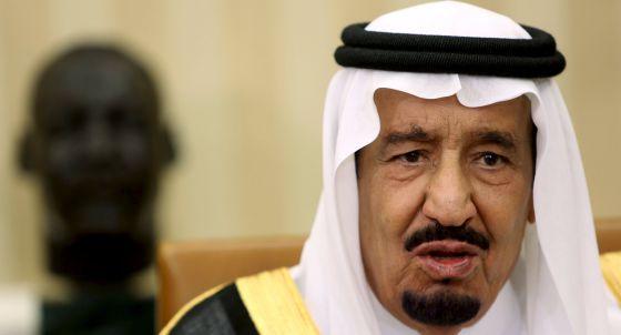 O rei saudita Salman bin Abdulaziz em Washington na passada sexta-feira