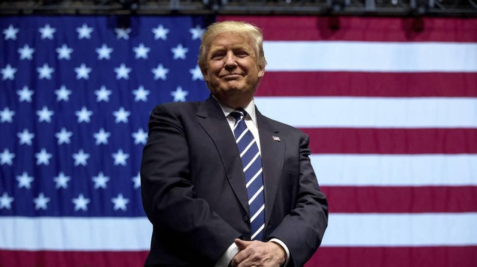 Trump, durante ato político em Michigan