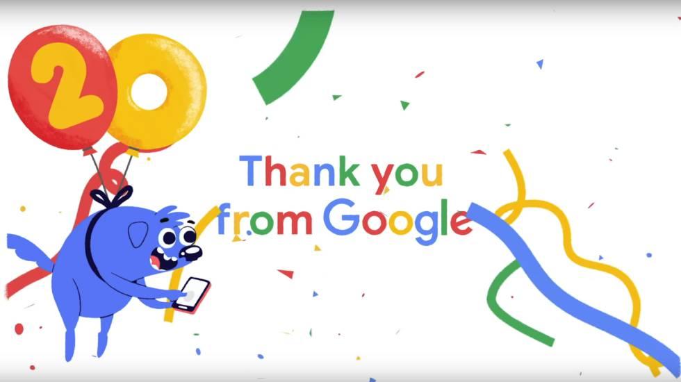 20º aniversário do Google