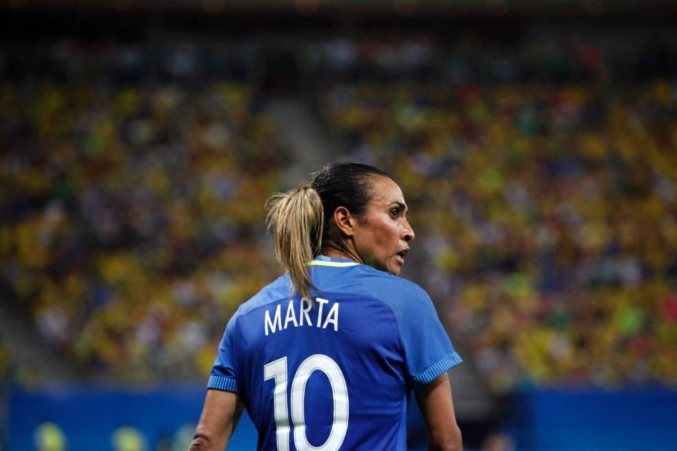 Marta, durante jogo no último dia 9.