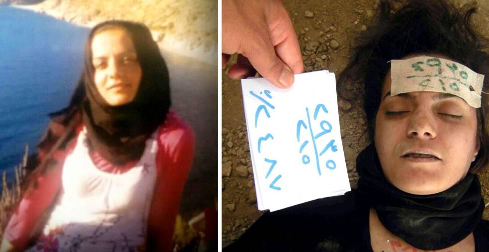 Arquivo fotográfico do dossiê vazado por um desertor no qual se documenta a morte de uma jovem detida pelo regime sírio