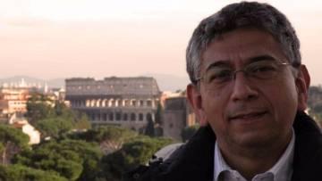 José Yactayo em Roma.