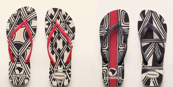 As sandálias 'Havaianas Tribos', que não estão à venda.