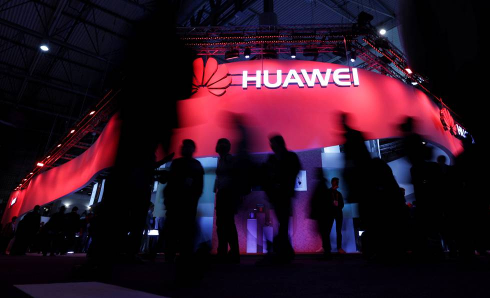 O estande da Huawei no Mobile World Congress 2017, em Barcelona.
