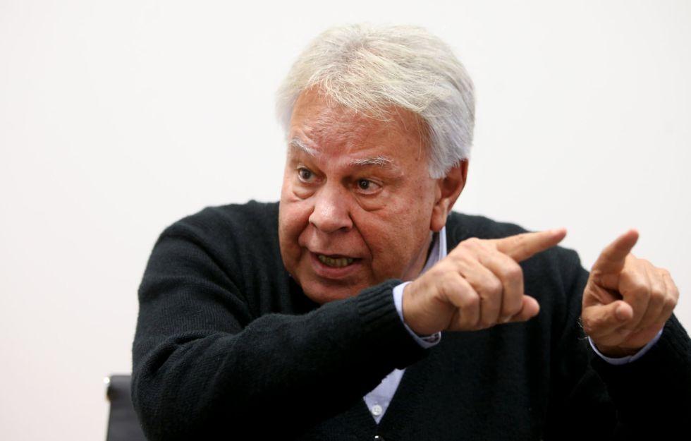 Felipe González, em seu escritório em Madri.