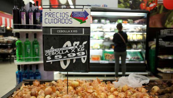 Um supermercado de Buenos Aires.