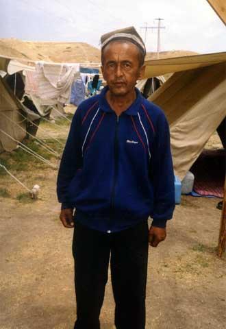 Akram Zajídov, uno de los refugiados uzbekos en Kirguizistán.