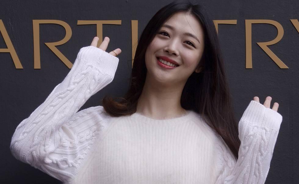 A estrela do pop coreana, Sulli, em 2015.