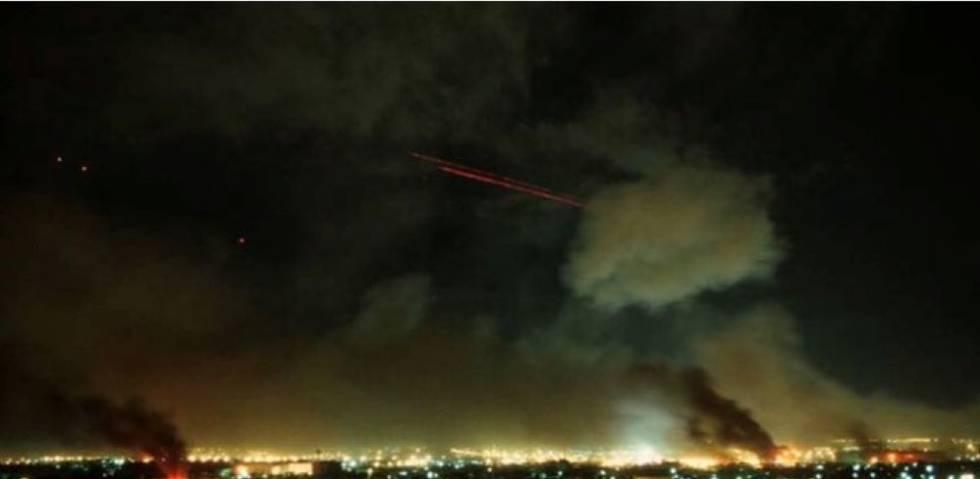 Imágenes del bombardeo a la base Al Ain, en Irak.