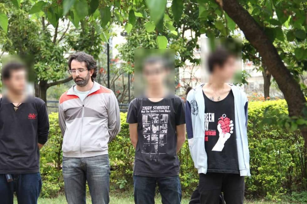 Willian Pina Botelho entre os detidos. Ele não foi levado para a delegacia.