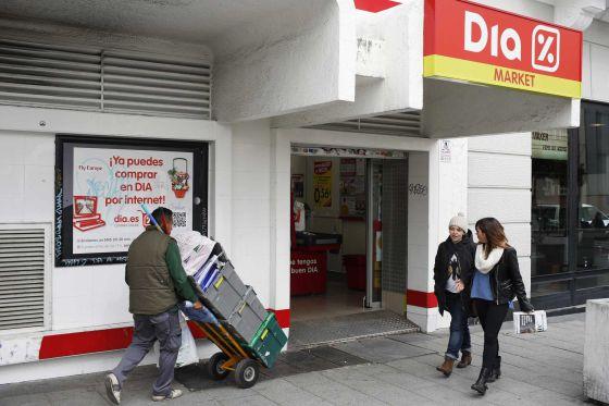 Unidade do supermercado Dia em Madri.