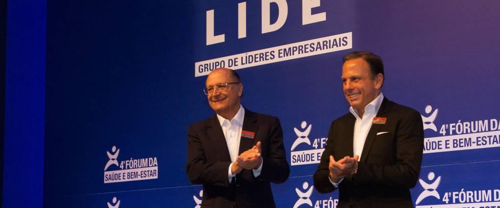 Geraldo Alckmin e João Dória, em evento organizado pelo empresário, em maio de 2015.