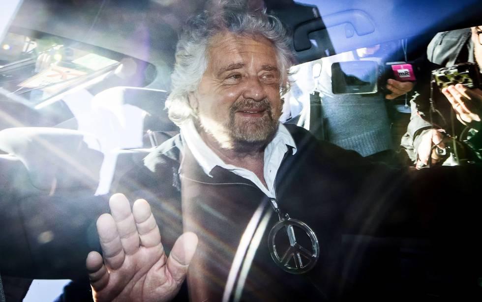 O comediante Beppe Grillo, líder do Movimento 5 Estrelas, na terça-feira.