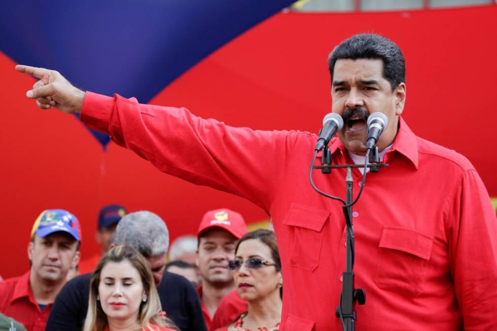 Maduro em um ato em Caracas.