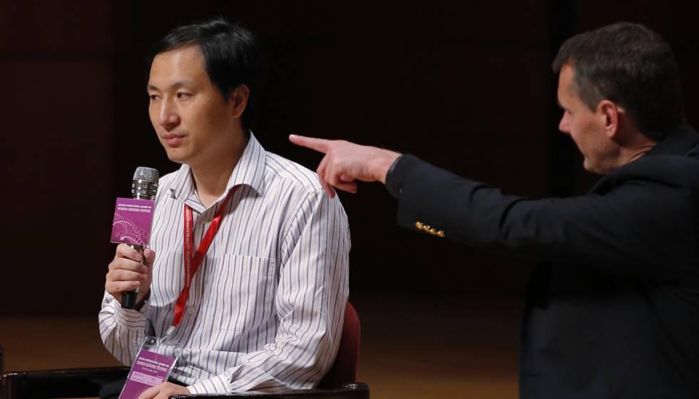 He Jiankui, durante seu pronunciamento na Conferência de Edição do Genoma Humano realizada nesta quarta-feira em Hong Kong.