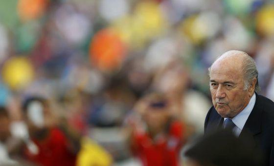 O presidente da FIFA, Sepp Blatter, domingo passado no Maracanã.