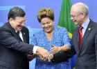 O presidente da Comissão e Rousseff querem que o acordo ocorra até maio