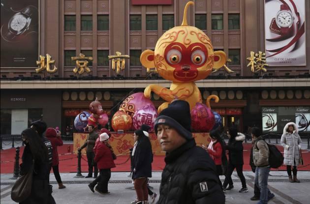 Em Pequim estava tudo preparado para celebrar no Ano Novo