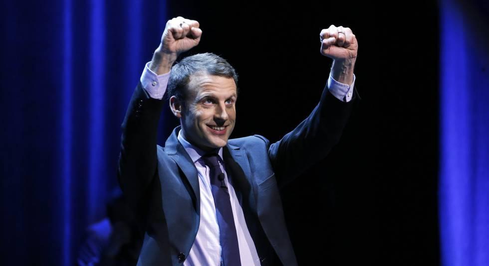 Emmanuel Macron, em um ato celebrado ontem.