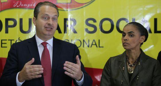 Eduardo Campos e Marina Silva, em fevereiro.