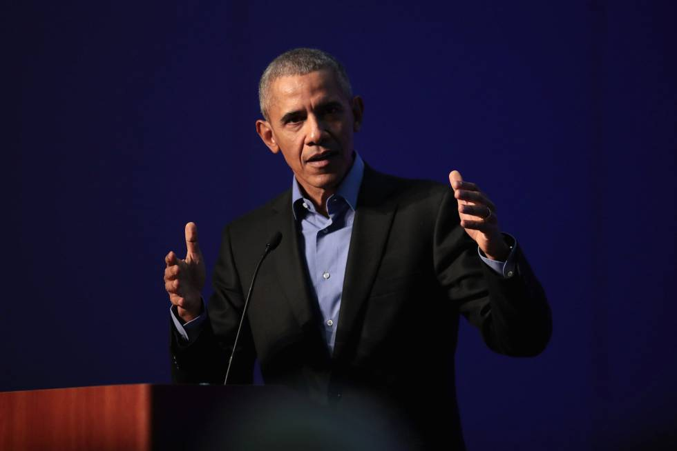 Barack Obama, em 5 de dezembro em um ato público em Chicago.