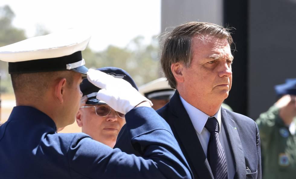 O presidente Bolsonaro, no dia 4, em Anápolis, em Goiás.
