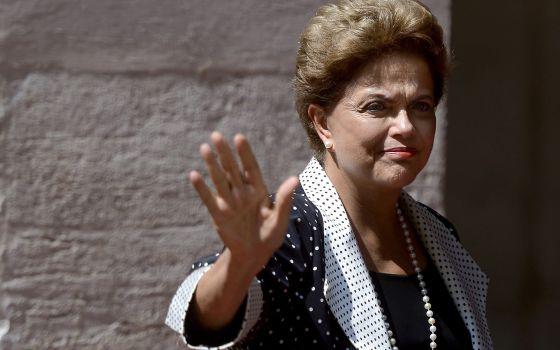 Dilma durante viagem a Roma, em julho.