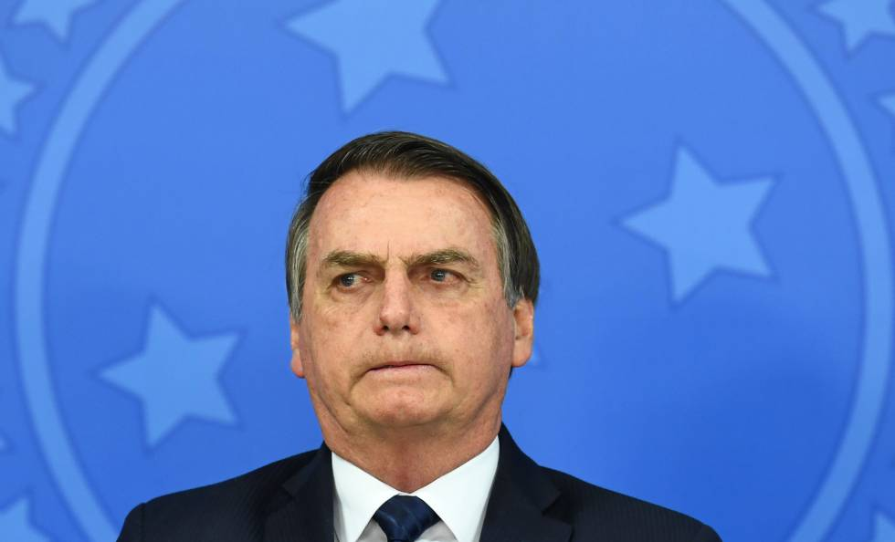 Bolsonaro na posse de Gustavo Montezano como presidente do BNDES em 16 de julho.