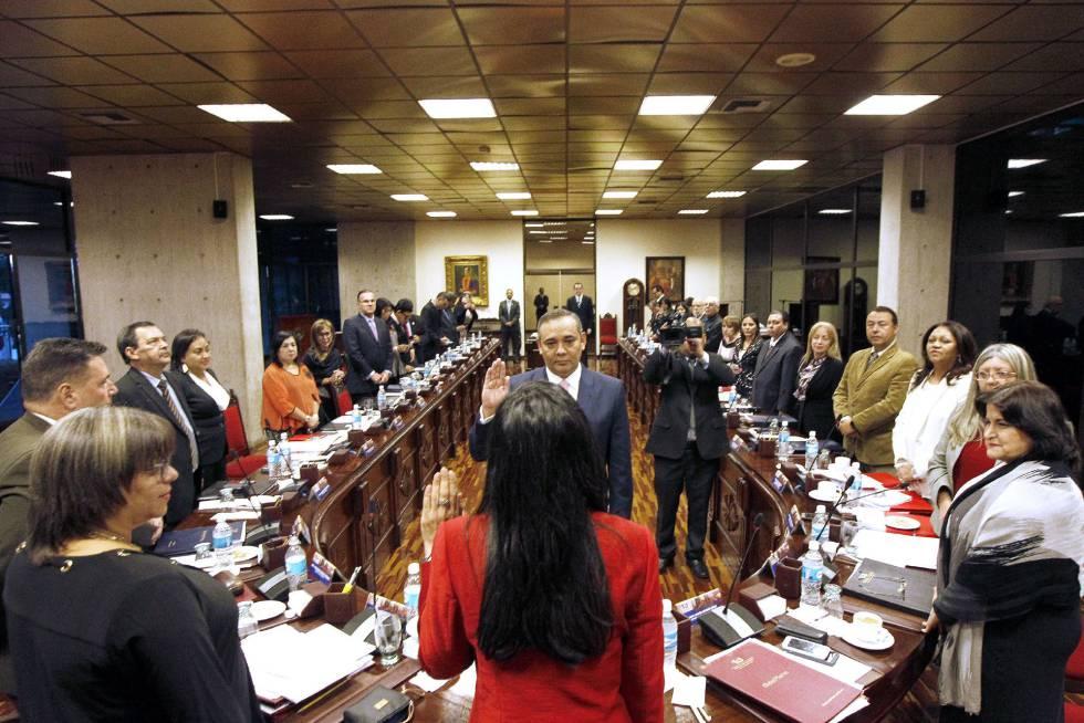 O novo presidente do Supremo venezuelano, Maikel José Moreno.