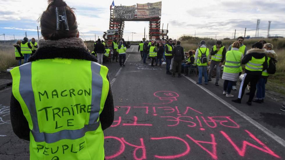 Protesto dos 'coletes amarelos' no sul da França