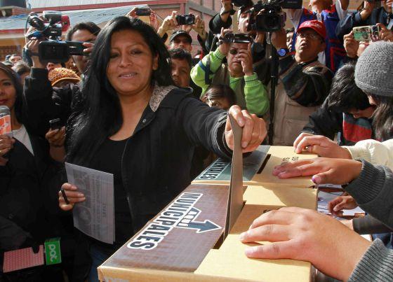 Soledad Chapetón, a prefeita de El Alto.