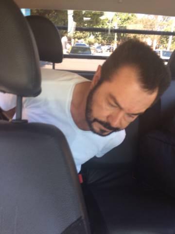 """O traficante Luiz Carlos da Rocha, conhecido como """"Cabeça branca"""", preso em Sorriso, no Mato Grosso"""