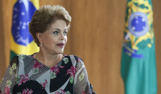 Dilma durante uma entrevista em Brasília, no dia 31 de março.