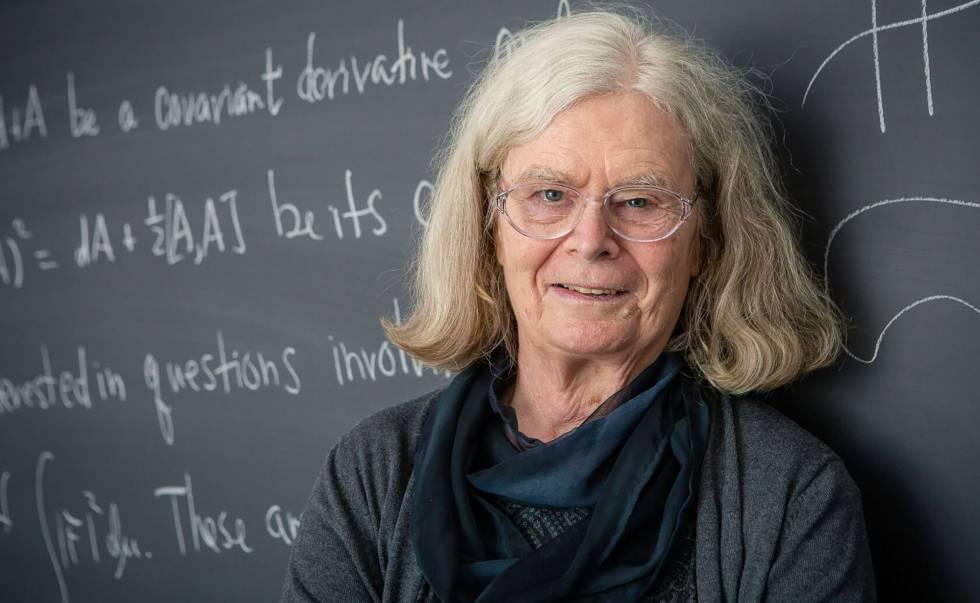 Karen Uhlenbeck, prêmio Abel de Matemáticas, em Princeton.