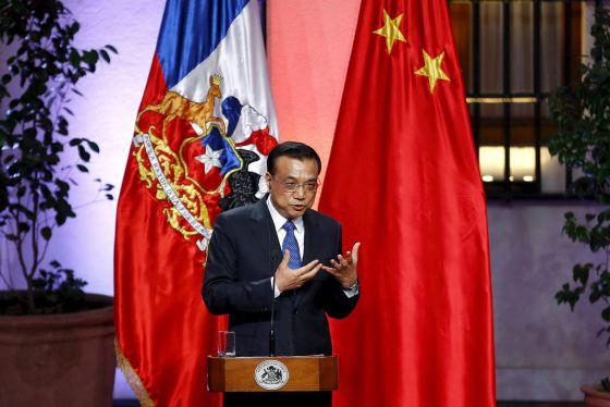 O primeiro-ministro da China, Li Keqiang, em sua visita.