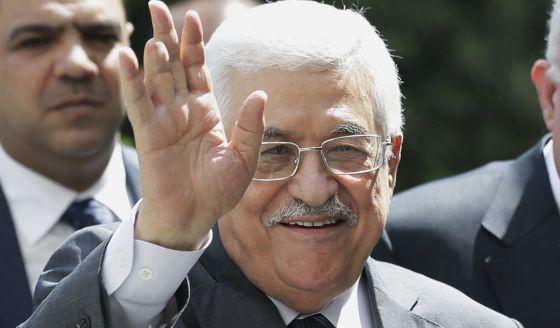 O presidente Abbas, na reunião da Liga Árabe no Cairo.
