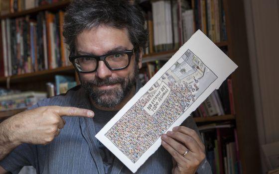 Liniers, em seu apartamento de Buenos Aires.