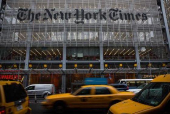 Fachada do 'The New York Times', em Nova York.