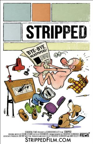 Cartaz de Bill Watterson para o filme 'Stripped'.