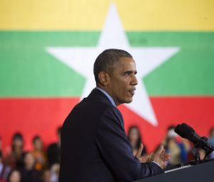Barack Obama, durante discurso feito na sexta-feira em Yangon, em Mianmar.