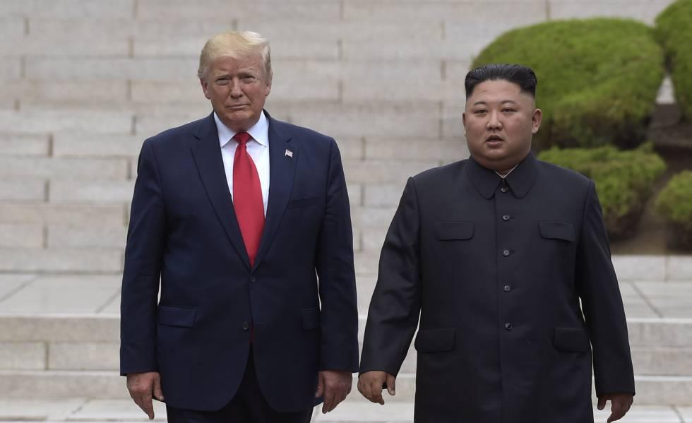 Donald Trump e Kim Jong-un, em junho, na Zona Desmilitarizada.