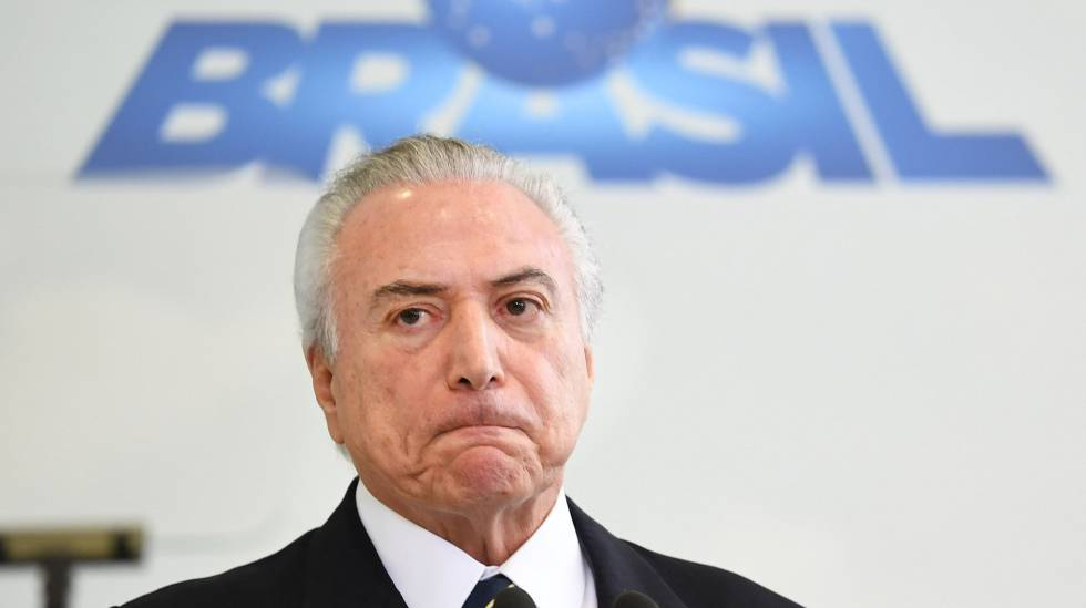 Michel Temer em evento no Planalto.