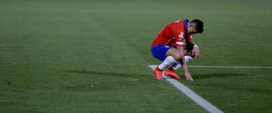 O chileno Alexis, depois de empatar contra o México.
