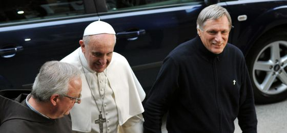 O Papa e o padre Luigi Ciotti, no dia 21 de março.
