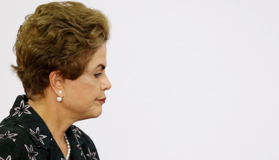 Presidenta Dilma Rousseff em evento no Planalto.
