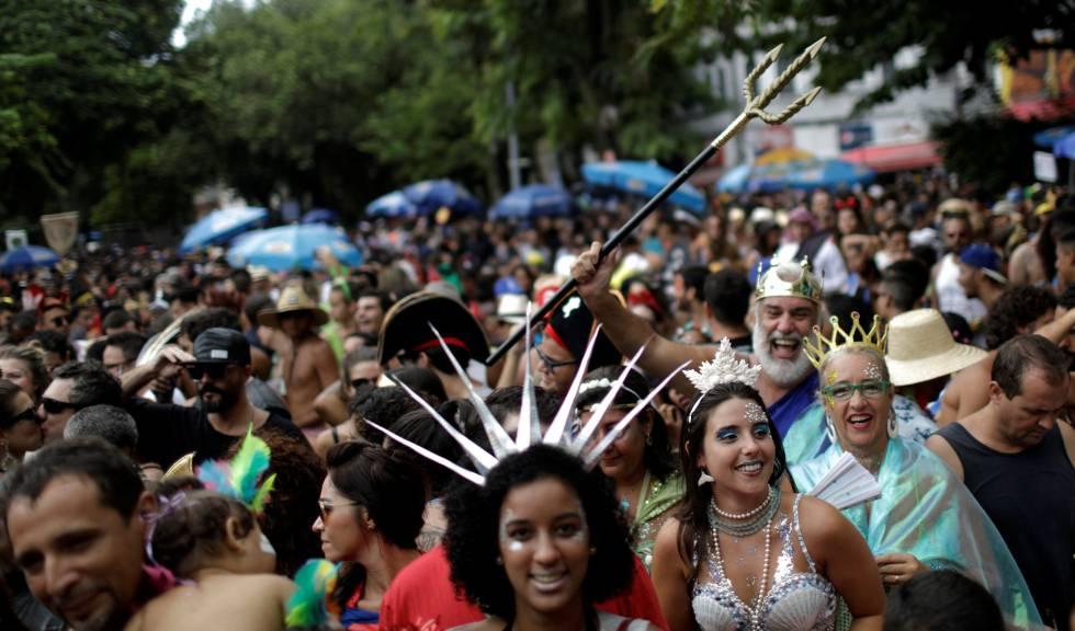 Bloco no Rio de Janeiro no sábado, 27.