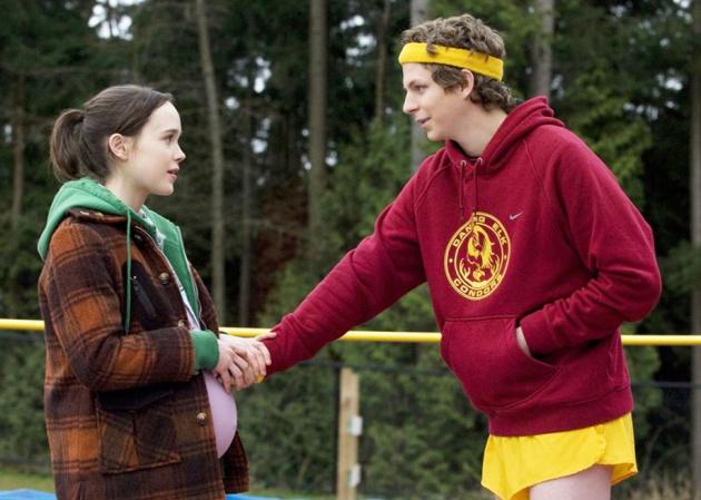 Atores Ellen Page e Michael Cera, em uma cena de Juno